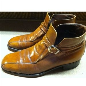Vintage Men Florsheim Tan Leather Ankle Boots 8.5